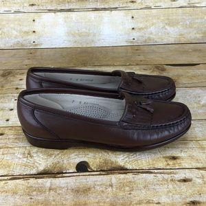 SAS Leather Slip On Loafers